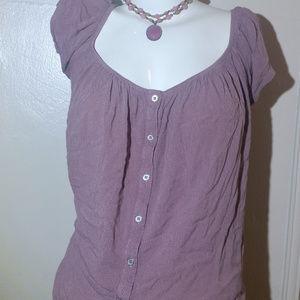 Mauve Large Button Shirt